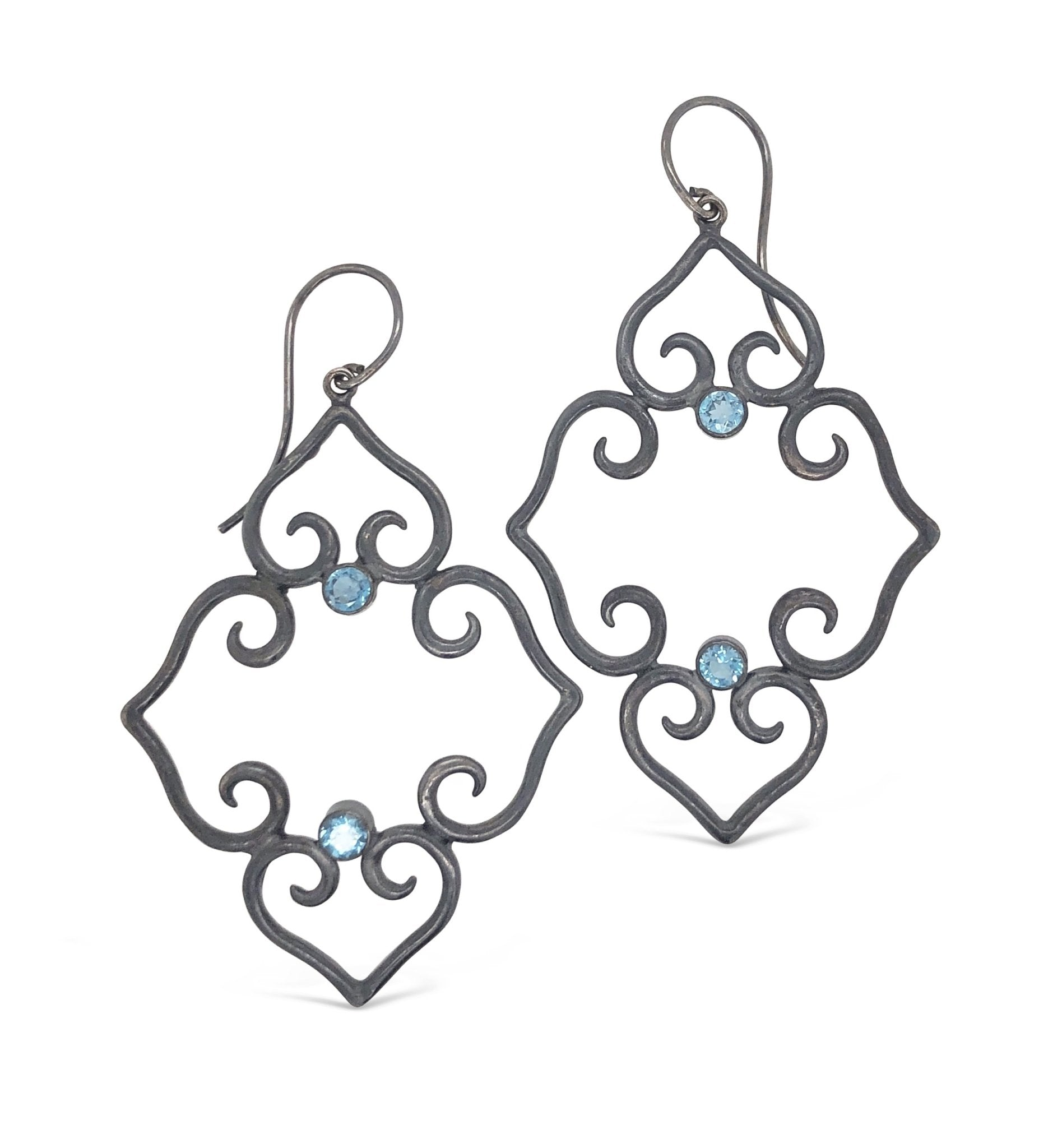 Blue Topaz Scroll Earrings - Ashleigh Branstetter®