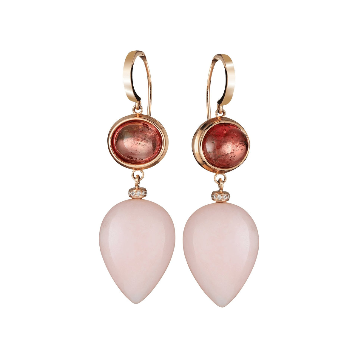 Dante Opal and Pink Tourmaline Earrings - Ashleigh Branstetter®