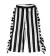 This Sassy Little Number is a two piece set that comes with a scoop neck top that cuts low in the back and fun striped pants with ruffles lining the sides. Your little diva will love rocking this outfit to school! Adorable little girl tendy fashionabl outfit