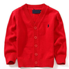 This cardigan sweater is a classic! We have 5 different colors to choose from. This toddler boy cardigan is a Fall fashion must have and will turn your little baby boy into a proper gentlemen!