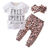 Are you raising a little Free Spirit? Well, then this would be perfect for her! The Free Spirit 3 piece set comes with T-shirt, pants and matching headband. The pink leopard pattern will pop on your little diva!