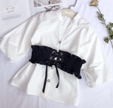 The Dress Blouse can be worn as a blouse over jeans or leggings or as a dress. This set comes with the elastic sash that ties with a ribbon and the top comes with puffed sleeves which makes for a great fashion statement!