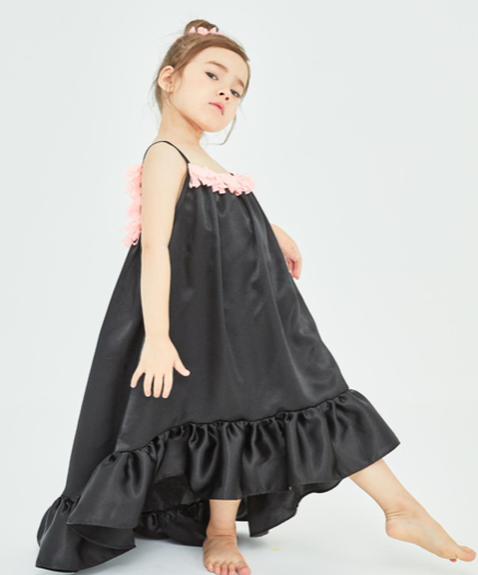 Ruffle Silk Dress Set
