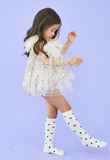 Petite Hailey Adel Short Feather Cape