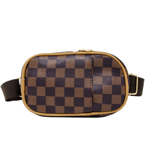 For The Boujie Babes on the go, our Small Crossbody checkered phone (unisex) bag completes their outfit! This is an adorably chic accessory for your mini divas or gents. The strap is adjustable and sits snug around the waist. This can fit a toddler all the way up to a tween.