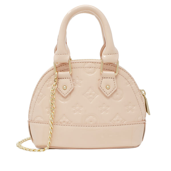 For our chic Boujie Fashionista's, our Patent Mini Purse completes all of our high fashion and dressy outfits. The bag comes with two handles along with a gold chain shoulder strap which hangs long on the side. Great accessory for babies, toddlers and tweens. Available in 3 solid colors - Black, Red and Pink