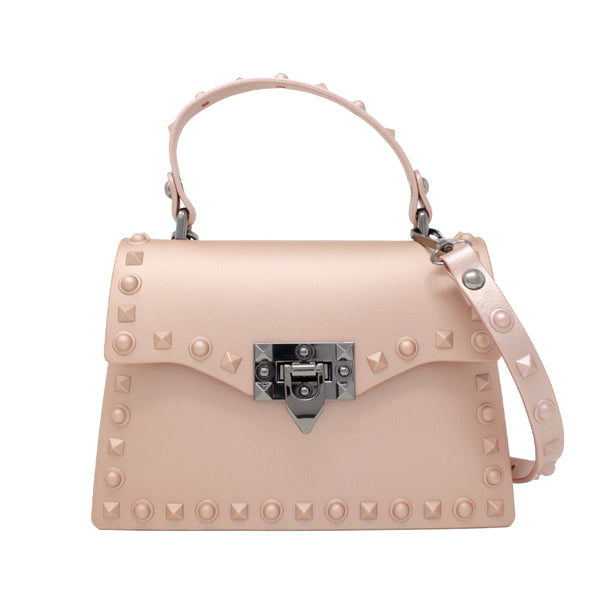 For our chic Boujie Fashionista's, our Jumbo Jelly Stud Bag is stunning! This bag completes all of our high fashion and dressy outfits. The bag comes with a handle along with a shoulder strap. This bag is great for adults as well! It is smooth and sleek and feels as good as it looks!
