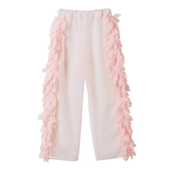 Best selling pink swimsuit for girls with pink petals. See also matching cover-up pants and beach cover-up poncho for girls. The Stella Cove collection of beachwear for girls offers a complete holiday look.