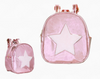 Our Boujie Kidz American Jeweled Disco Vibe Star Backpacks have just arrived!The Star Backpack has adjustable shoulder straps. Inside is lined and has a side zipper pocket. Approximate Dimensions: 8.5