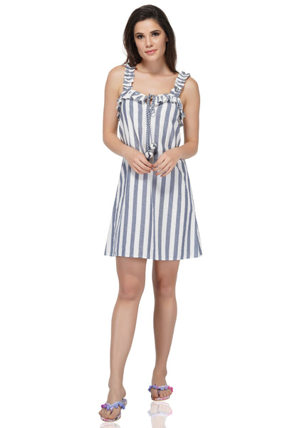 Manatee Striped Tunic has a beautiful nautical essence, this dress is an absolute fit for all occasions. A stunning dress like this Midi Dress is a must-have dress for your summer collection. The dress is carved with all skin-friendly fabric for the long duration use and utmost comfort. It is designed to offer unmatched charm to your overall look.  Don't forget to check out the Mommy and me set to match in style!