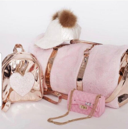 Disco Vibe Star Backpacks Fur & Iridescent