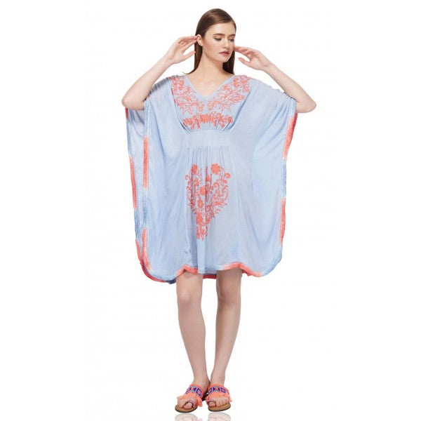 The material is very soft and comfortable and it is embroidered with an attractive design. Made of ultra-soft fabric, this cover up is perfect for the beach visit. Hand-wash is highly recommended for this cover up. Don't forget to check out the Mommy and Me set to match your mini in style!