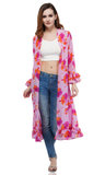 This light weight Kimono is very versatile. Made of ultra-soft fabric, it can be worn on the beach or thrown over a cute outfit to give it flare! The trendy style and energetic colors will be sure to make you stand out. Hand-wash is highly recommended for this cover up. Don't forget to check out the Mommy and me set to match in style!