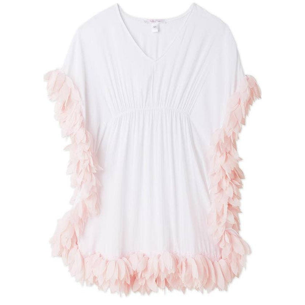 The swan lake of beach cover-ups with chiffon petals to match bikinis and bathing suits for girls.