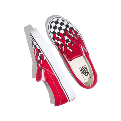 Vans Checker Flame Slip On Sneaker, Red