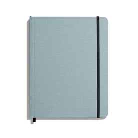 Shinola Soft Linen Ruled Journal, Harbor, Large