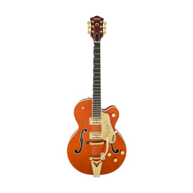 Gretsch G6120T Players Edition Nashville Hollowbody Electric Guitar w/Bigsby, Orange Stain