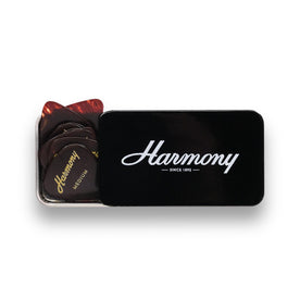 Harmony Celluloid Tortoise Standard Guitar Pick, Medium, 12-Pick Tin