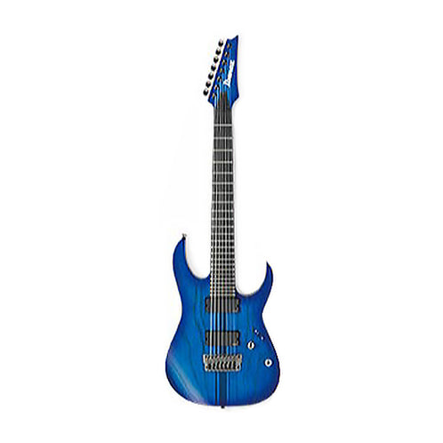 Ibanez RGIT27FE-SBF Iron Label 7-String Electric Guitar, Sapphire Blue Flat
