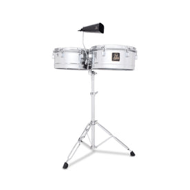 Latin Percussion LPA256 Aspire 13inch & 14inch Timbale, Chrome
