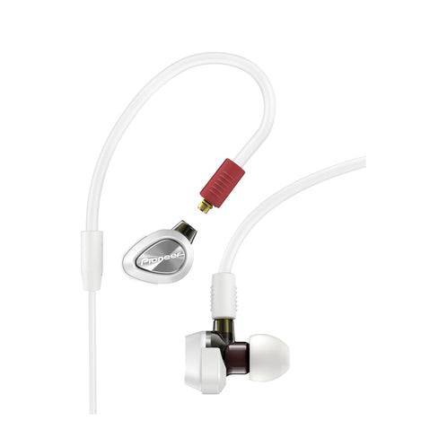 Pioneer DJE-2000W Professional DJ In-Ear Headphones White