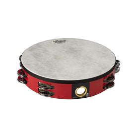 Remo TA-5210-52 10inch Pretuned Tambourine, Double Row Jingles, Deep Red