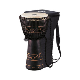 MEINL Percussion ADJ4-XL+BAG 13inch Original African Style Rope Tuned Wood Djembe+Bag, Extra Large