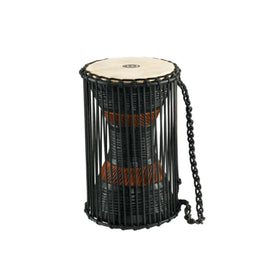MEINL Percussion ATD-M 7x12inch African Wood Talking Drum, Brown/Black