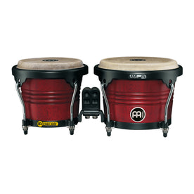MEINL Percussion FWB190CR 6-3/4+8inch Marathon Designer Series Wood Bongo, Cherry Red