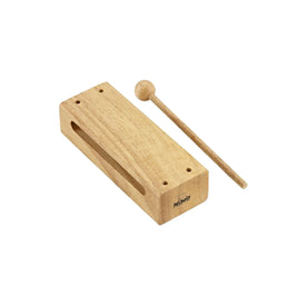 NINO Percussion NINO22 Wood Block w/Beater, Large, Natural