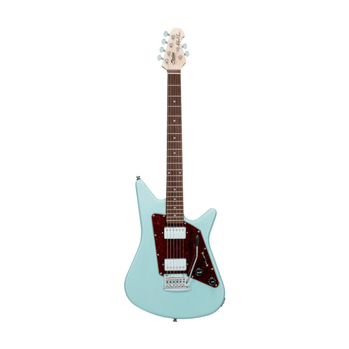 Sterling by Music Man Albert Lee Signature Electric Guitar, Jatoba FB, Daphne Blue