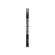 Tama 5A-S-BS Design Series Sticks Of Doom Oak Sticks, Black/Silver Pattern