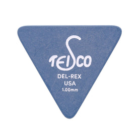 Teisco Del Rex Large Triangle Guitar Pick, 1.00mm, 6-Pick Pack