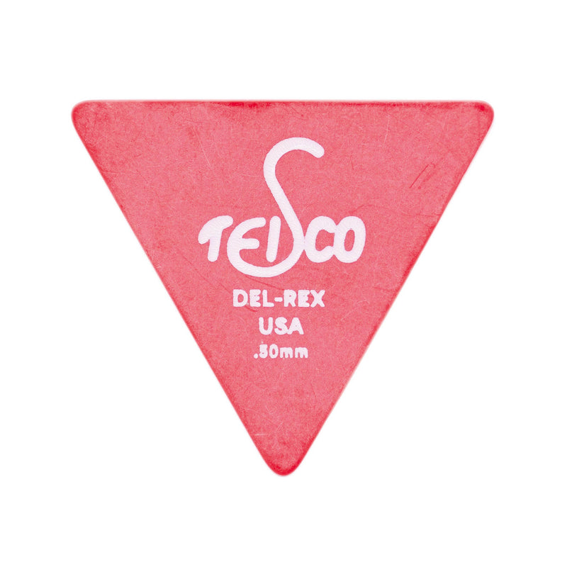 Teisco Del Rex Large Triangle Guitar Pick, .50mm, 6-Pick Pack