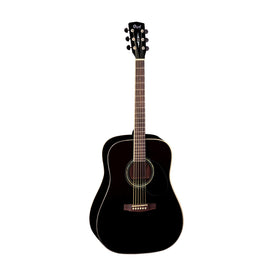 Cort Earth100-BK Acoustic Guitar, RW Neck, Black