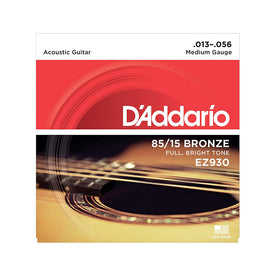 D'Addario EZ930 American Bronze Acoustic Guitar Strings, Medium, 85/15