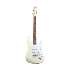 Squier Bullet Stratocaster w/Tremolo Electric Guitar, Laurel FB, Arctic White