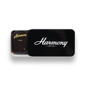 Harmony Celluloid Tortoise Standard Guitar Pick, Thin, 12-Pick Tin