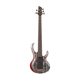 Ibanez Premium BTB1935-BIL 5-String Electric Bass Guitar w/Gig Bag, Black Ice Low Gloss