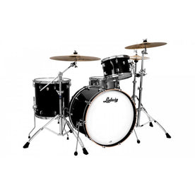 Ludwig L26223TXCG Neusonic 3-Piece Shell Pack (22B+16F+12T), Black Cortex