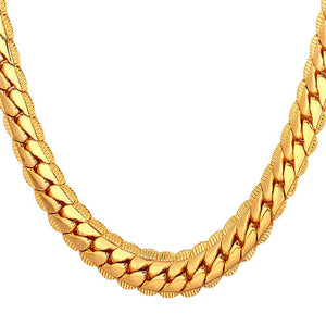 9mm Yellow Gold Cuban Link (Curb Heavy) Chain Necklace