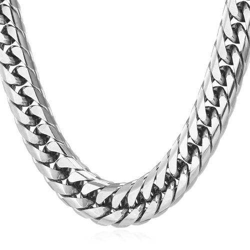 13mm Stainless Steel Cuban Link (Curb Classic) Chain Necklace
