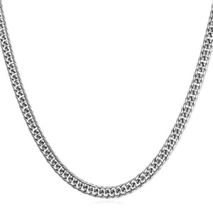 6mm Stainless Steel Cuban Link (Curb Classic) Chain Necklace