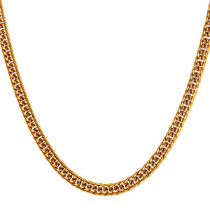 6mm Yellow Gold Cuban Link (Curb Classic) Chain Necklace