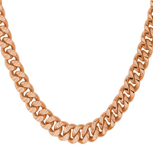 6mm Rose Gold Cuban Link (Curb Economy) Chain Necklace