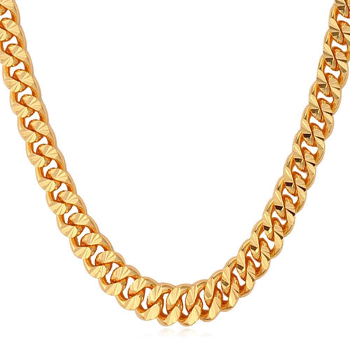 6mm Yellow Gold Cuban Link (Curb Economy) Chain Necklace