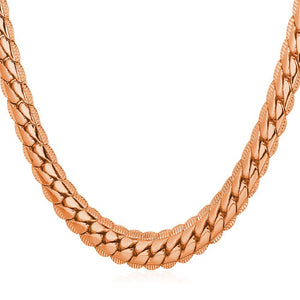 6mm Rose Gold Cuban Link (Curb Heavy) Chain Necklace