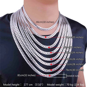 9mm Stainless Steel Cuban Link (Curb Heavy) Chain Necklace