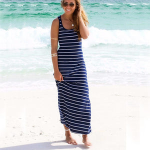 Striped Long Beach Sundress