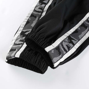 Camouflage Striped Ankle Band Joggers